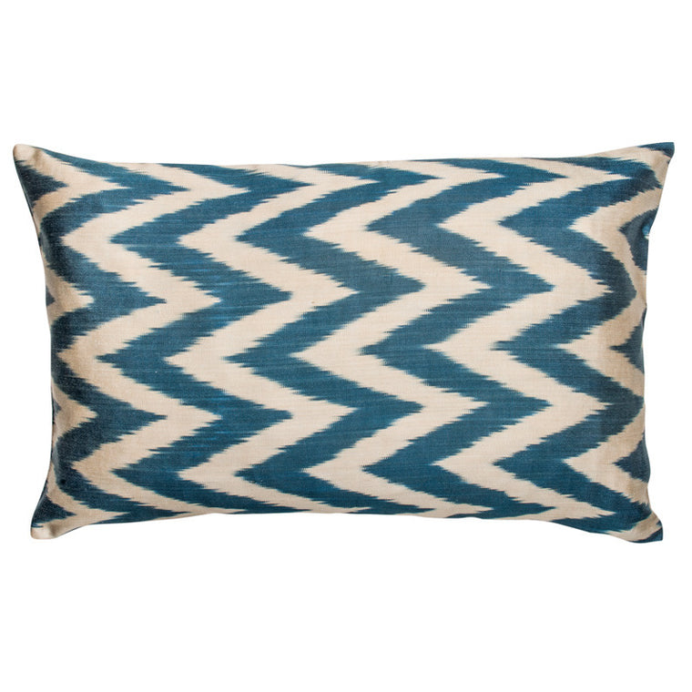 Indigo Ikat Zig-Zag Pillowcase - Simple Life Istanbul