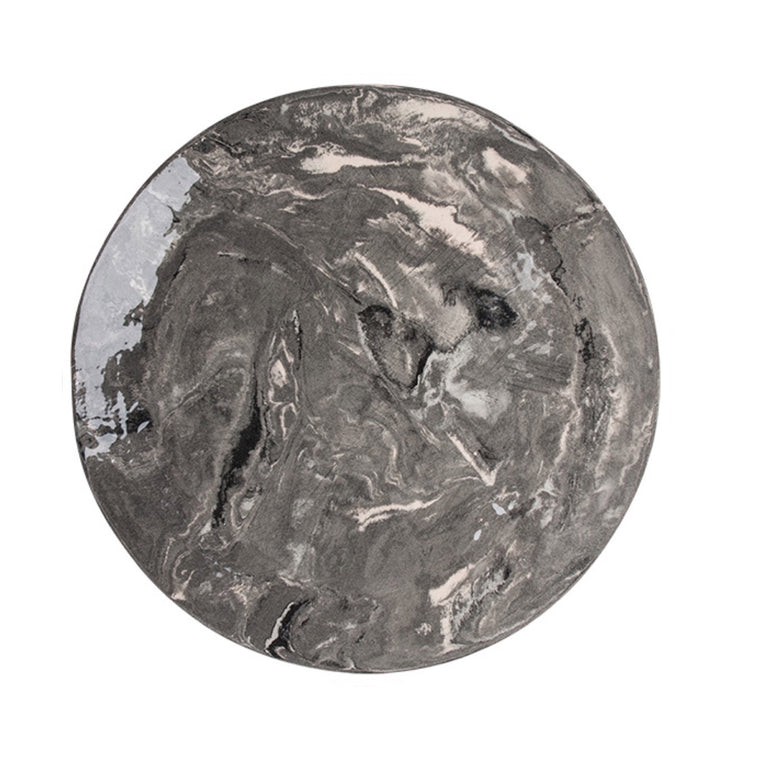 Grey Ebru Marble Ceramic Charger Plate - Simple Life Istanbul   - 1