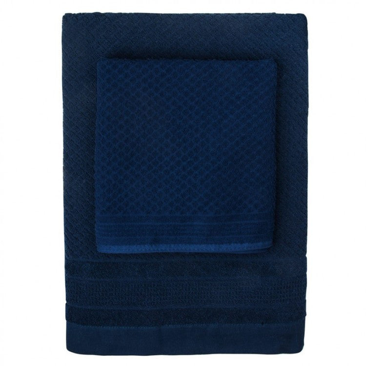 Navy Mosaic Towels - Simple Life Istanbul   - 1