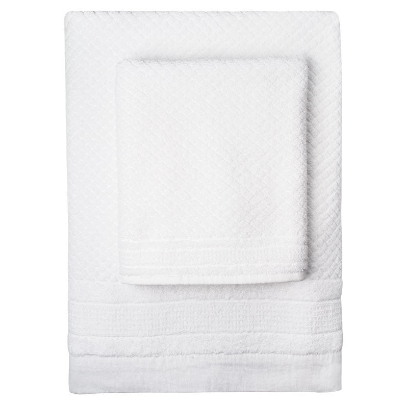 White Mosaic Towels - Simple Life Istanbul   - 1