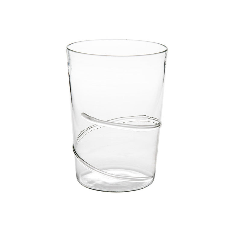 Clear Spiral Water Glass - Simple Life Istanbul   - 1