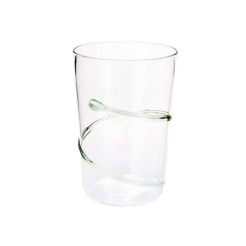 Green Spiral Water Glass - Simple Life Istanbul   - 1
