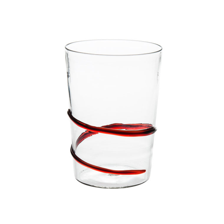 Red Spiral Water Glass - Simple Life Istanbul   - 1