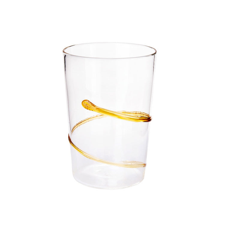 Yellow Spiral Water Glass - Simple Life Istanbul   - 1