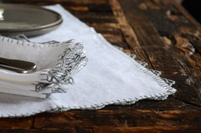 Grey Anatolia Table Linens - Simple Life Istanbul   - 4