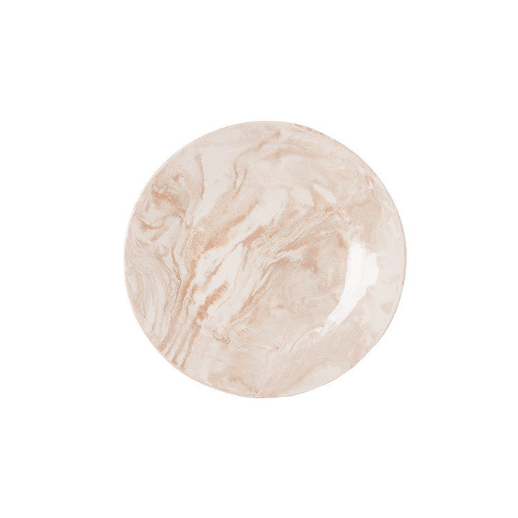 Beige Ebru Light Marble Ceramic Salad Plate - Simple Life Istanbul   - 2