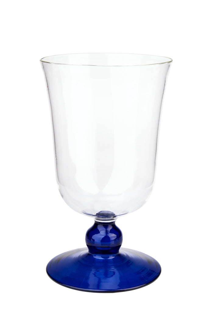 Blue Large Footed Wine Glass - Simple Life Istanbul   - 2