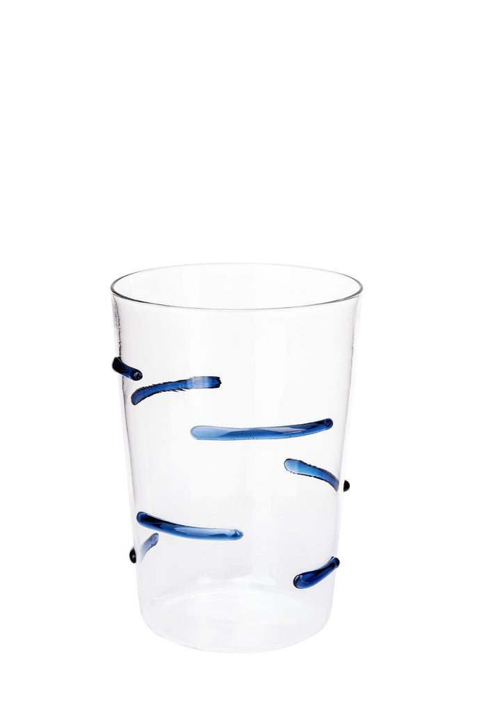 Blue Particle Lines Glass - Simple Life Istanbul   - 1