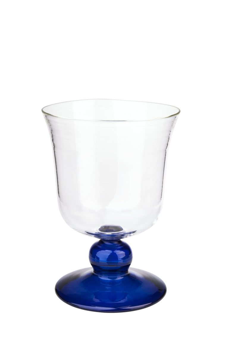 Blue Small Footed Wine Glass - Simple Life Istanbul   - 1
