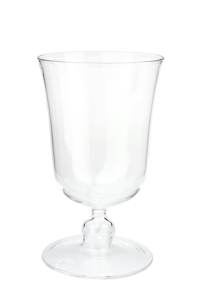 Clear Large Footed Wine Glass - Simple Life Istanbul   - 1