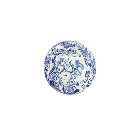 Blue Ebru Light Marble Ceramic Party Plate - Simple Life Istanbul   - 2
