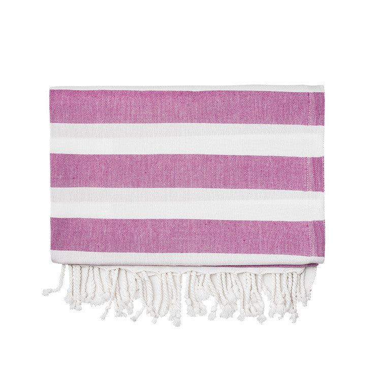 Fuchsia Silk Turkish Peshtemal Towel - Simple Life Istanbul