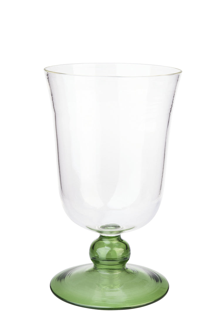 Green Large Footed Wine Glass - Simple Life Istanbul   - 2