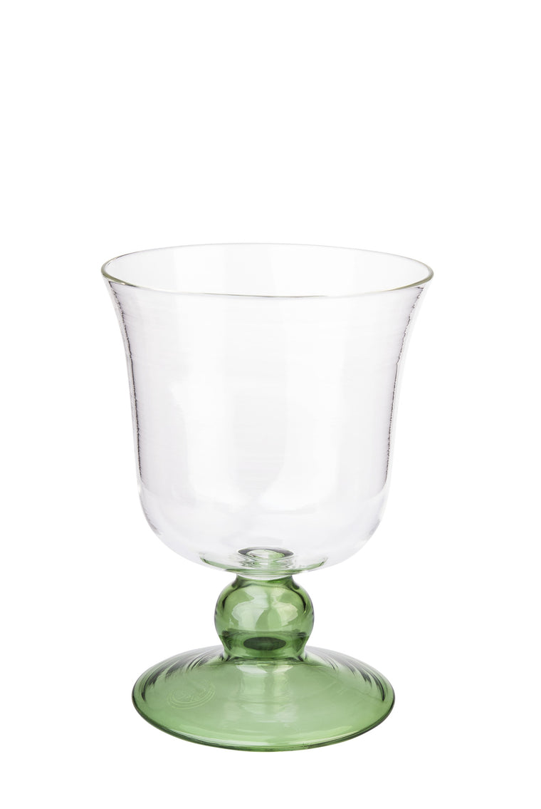 Green Small Footed Wine Glass - Simple Life Istanbul   - 1
