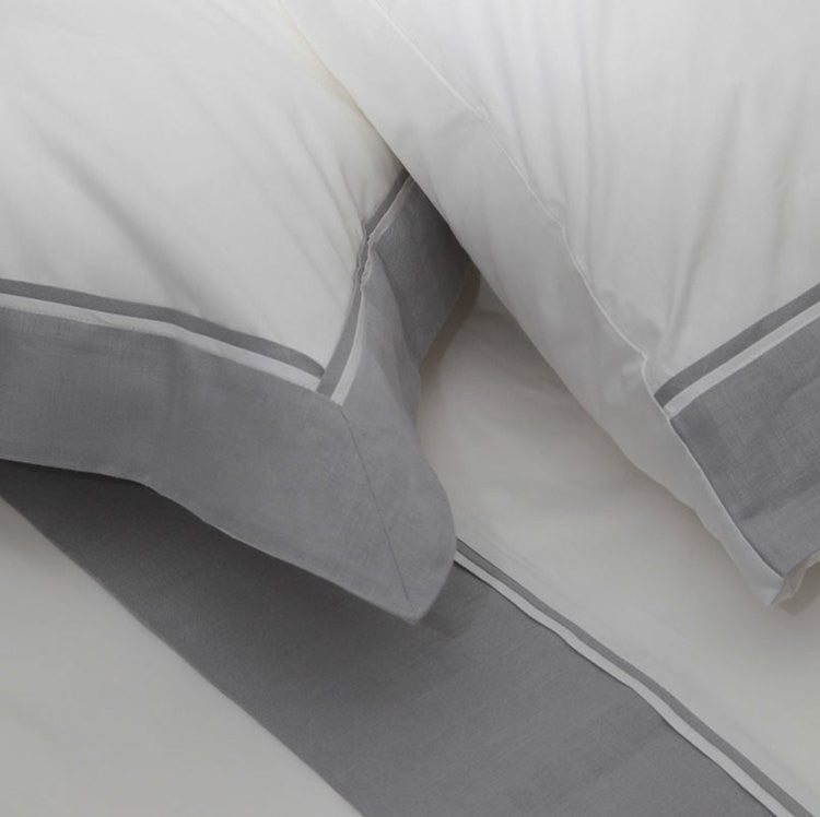 Grey Linen Border Duvet Set - Simple Life Istanbul   - 2