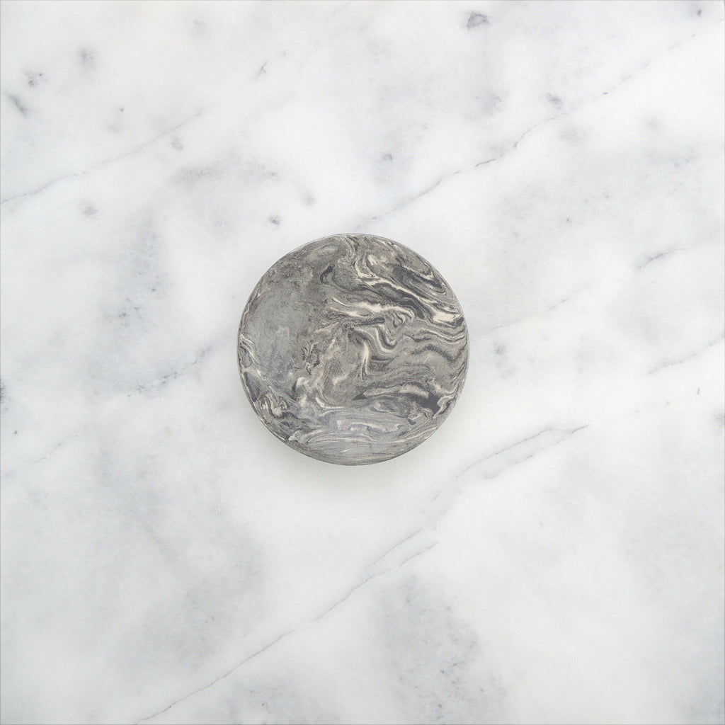 Grey Ebru Marble Ceramic Party Plate - Simple Life Istanbul   - 1