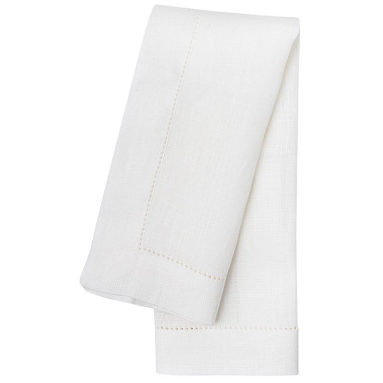 White Hemstitch Table Linens - Simple Life Istanbul   - 1