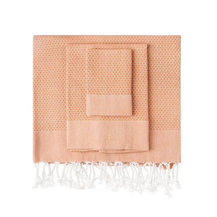 Cinnamon Honeycomb Turkish Peshtemal Towel - Simple Life Istanbul   - 1