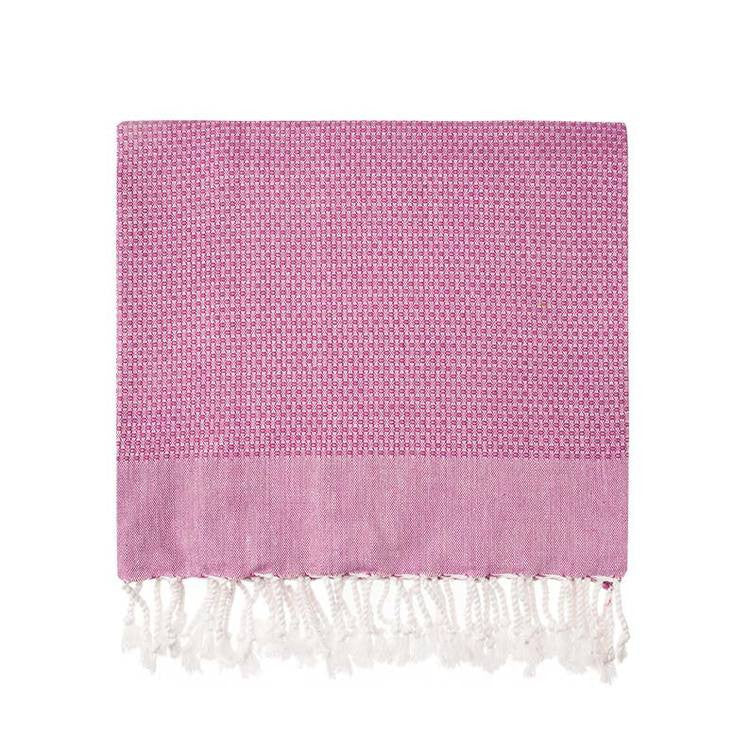 Fuchsia Honeycomb Turkish Peshtemal Towel - Simple Life Istanbul   - 2