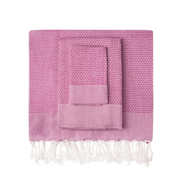 Fuchsia Honeycomb Turkish Peshtemal Towel - Simple Life Istanbul   - 1