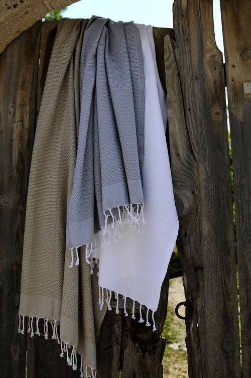 Plum Honeycomb Turkish Peshtemal Towel - Simple Life Istanbul   - 5