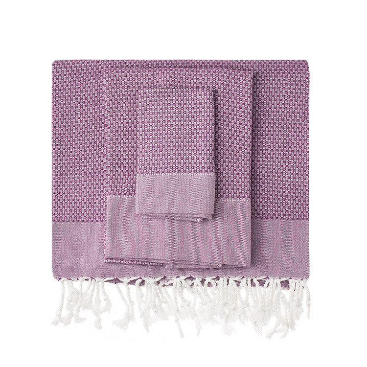 Plum Honeycomb Turkish Peshtemal Towel - Simple Life Istanbul   - 1