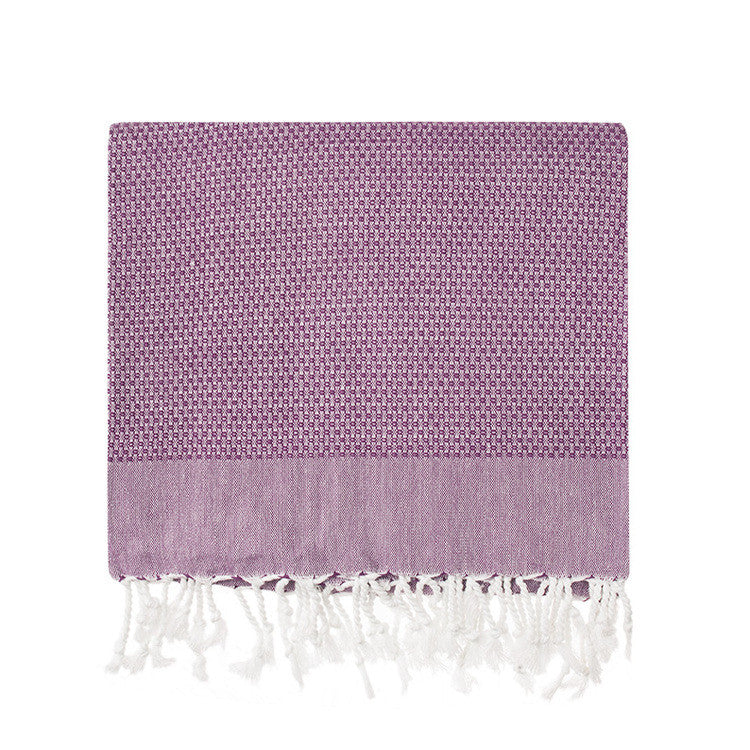 Plum Honeycomb Turkish Peshtemal Towel - Simple Life Istanbul   - 2