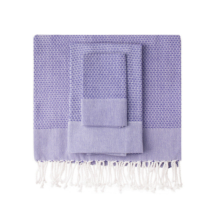Violet Honeycomb Turkish Peshtemal Towel - Simple Life Istanbul   - 1