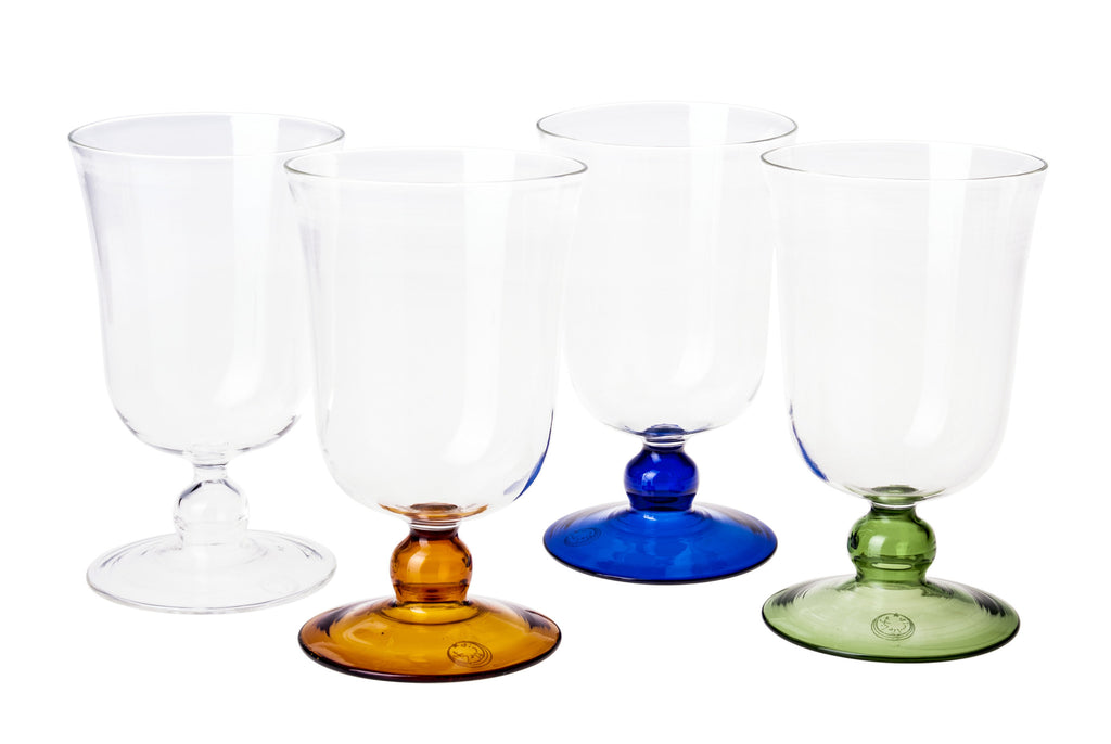 Blue Large Footed Wine Glass - Simple Life Istanbul   - 1