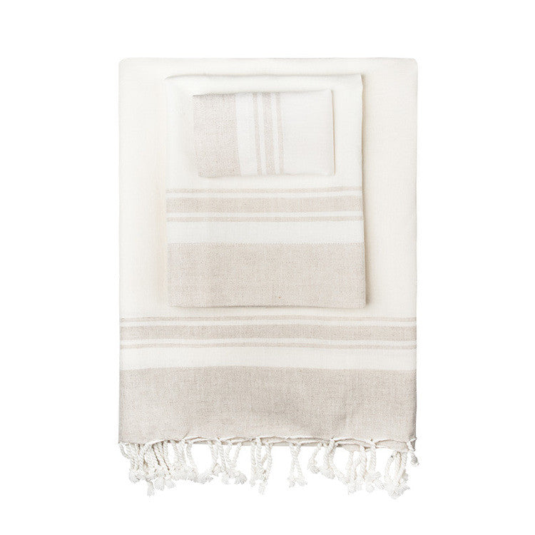 Linen-Blend Classic Turkish Peshtemal Towel - Simple Life Istanbul   - 1