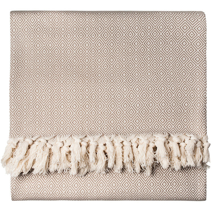 Linen Diamond Cotton Blanket - Simple Life Istanbul   - 1