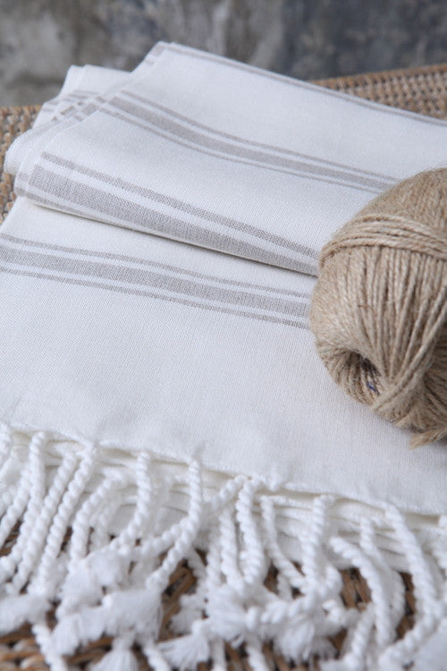 Linen-Blend Classic Turkish Peshtemal Towel - Simple Life Istanbul   - 2