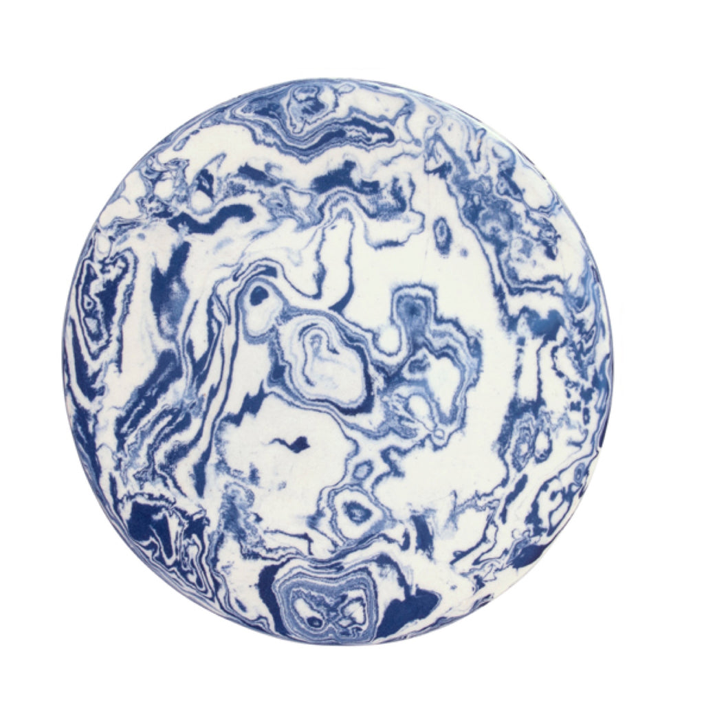 Blue Ebru Light Marble Ceramic Charger Plate - Simple Life Istanbul   - 1