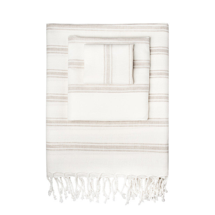 Linen-Blend Multi Turkish Peshtemal Towel - Simple Life Istanbul   - 1