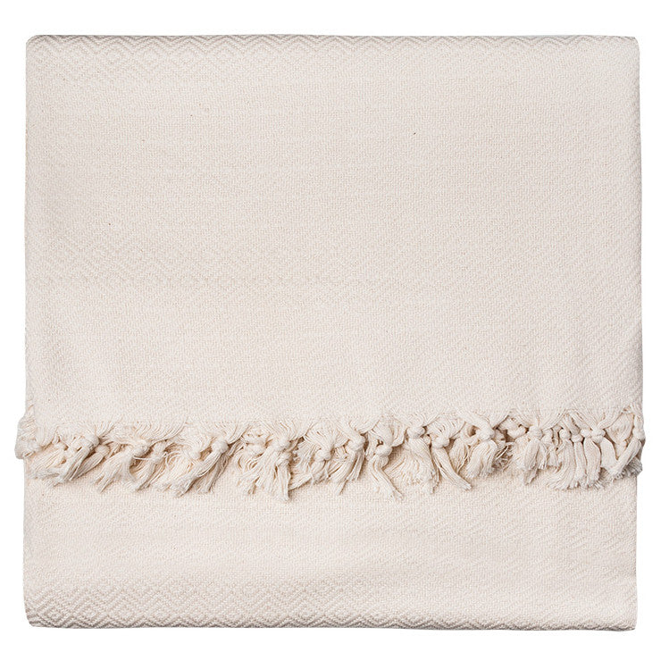 Ivory Diamond Cotton Blanket - Simple Life Istanbul   - 1