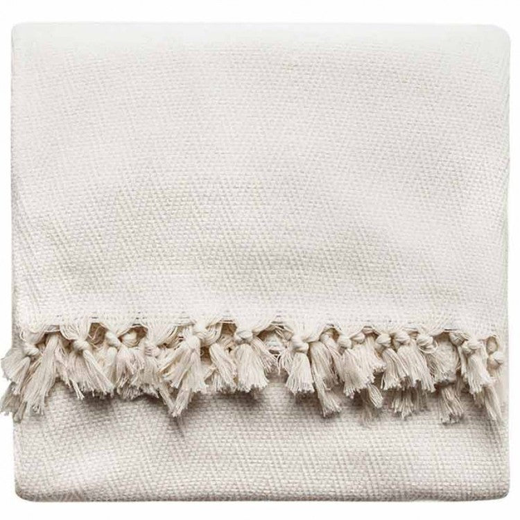 Ivory New Cotton Blanket - Simple Life Istanbul   - 1