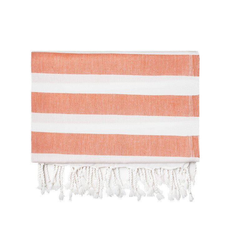 Orange Silk Turkish Peshtemal Towel - Simple Life Istanbul