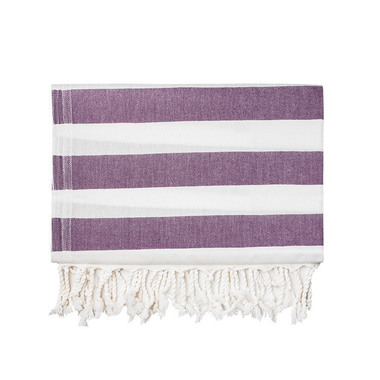 Plum Silk Turkish Peshtemal Towel - Simple Life Istanbul