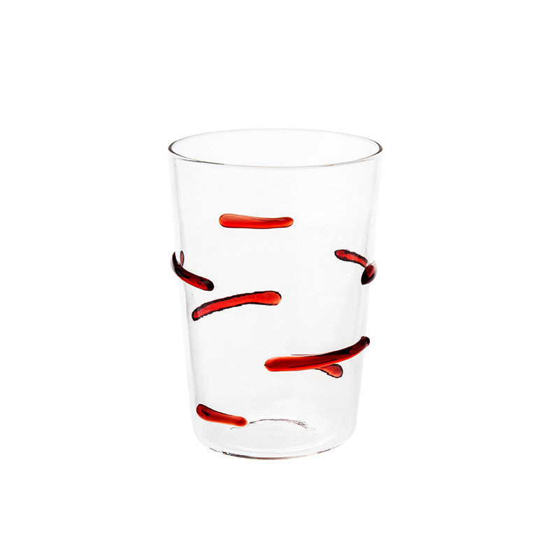 Red Particle Lines Glass - Simple Life Istanbul   - 1