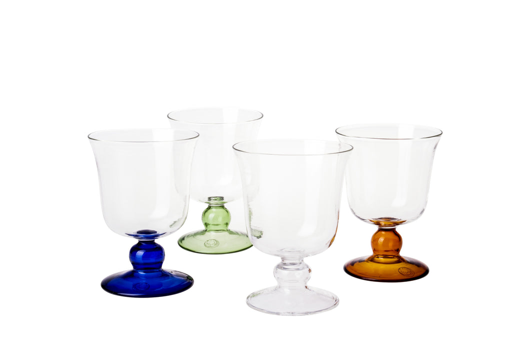Blue Small Footed Wine Glass - Simple Life Istanbul   - 2