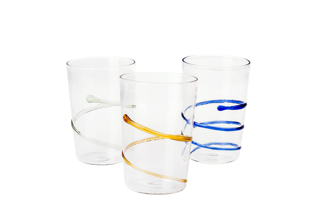 Clear Spiral Water Glass - Simple Life Istanbul   - 2