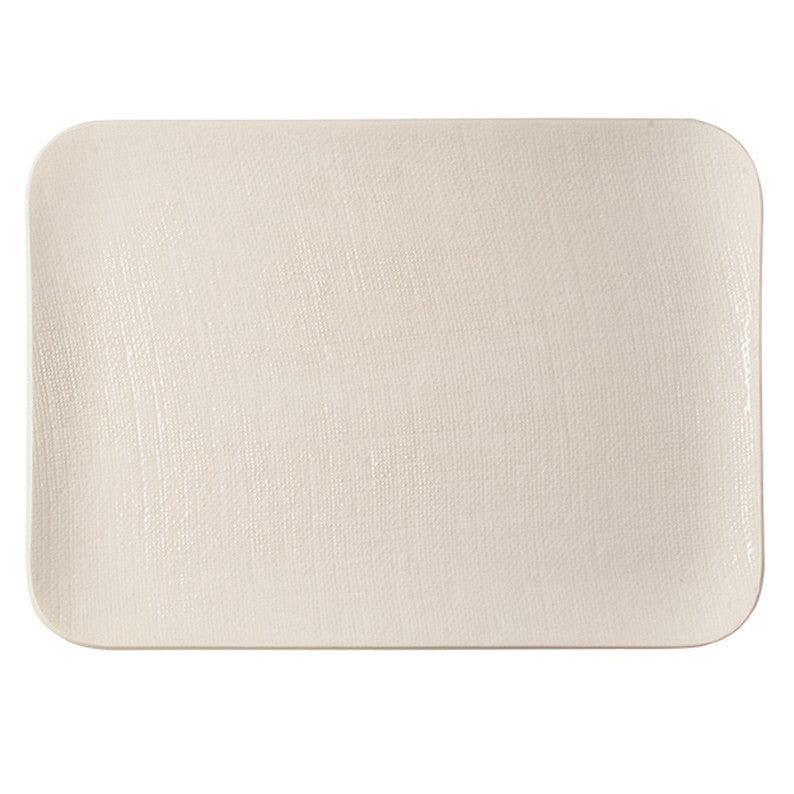 White Vintage Rectangle Serving Platter - Simple Life Istanbul