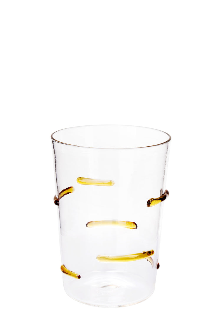 Yellow Particle Lines Glass - Simple Life Istanbul   - 1