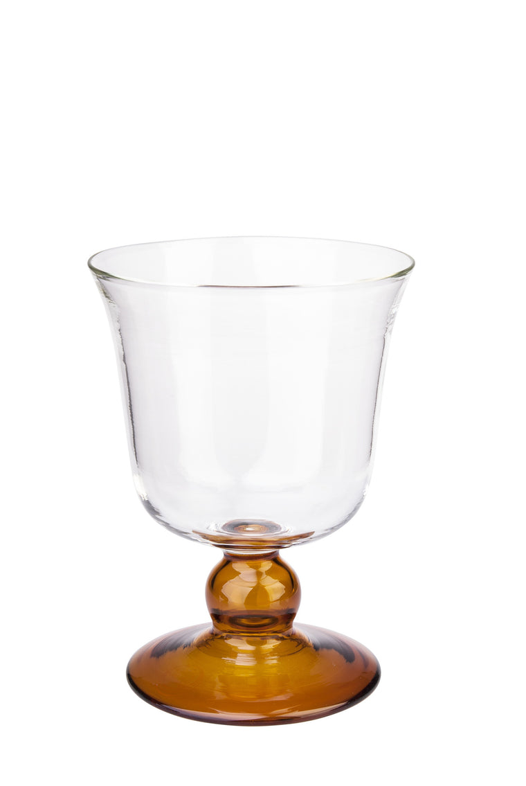 Yellow Small Footed Wine Glass - Simple Life Istanbul   - 1