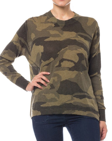 brooke camofluage sweater