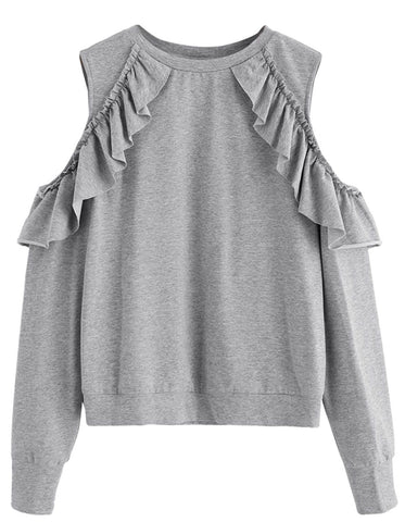 karla cold shoulder sweatshirt