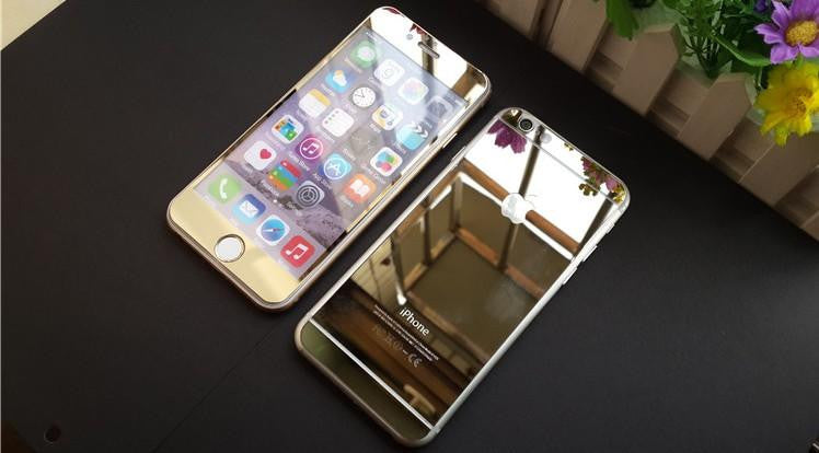 Front Back Chrome Mirror Skin For IPhone 5 6 Plus 6s CCCarbon