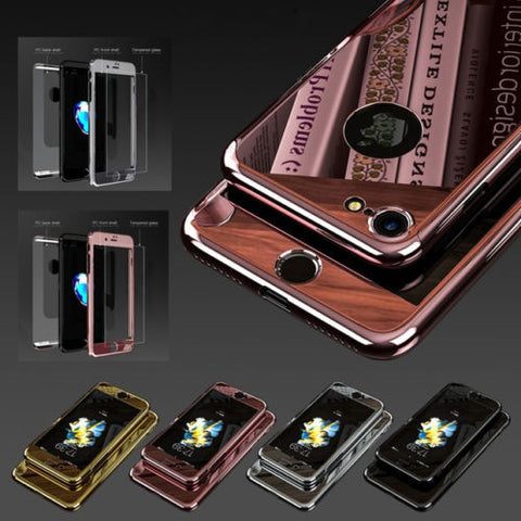 chrome mirror carbon fiber cases skins for iphone