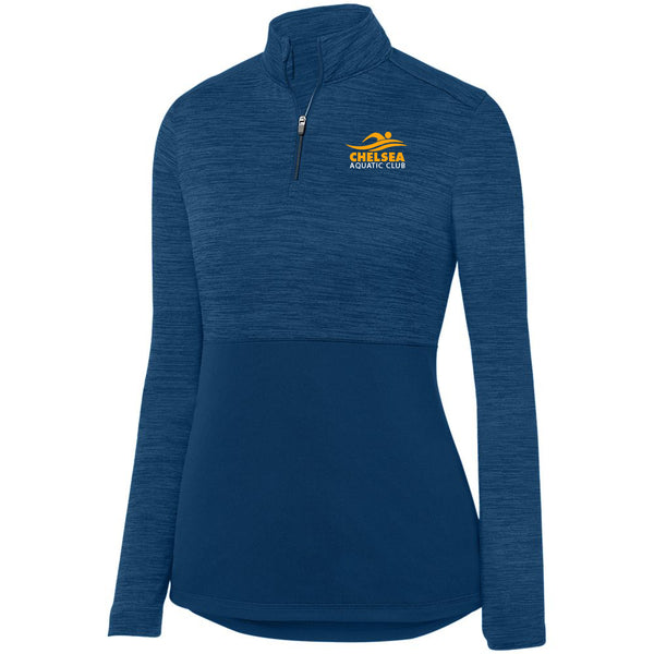 Ladies CAC Shadow Tonal Heather 1/4 Zip - Logo1