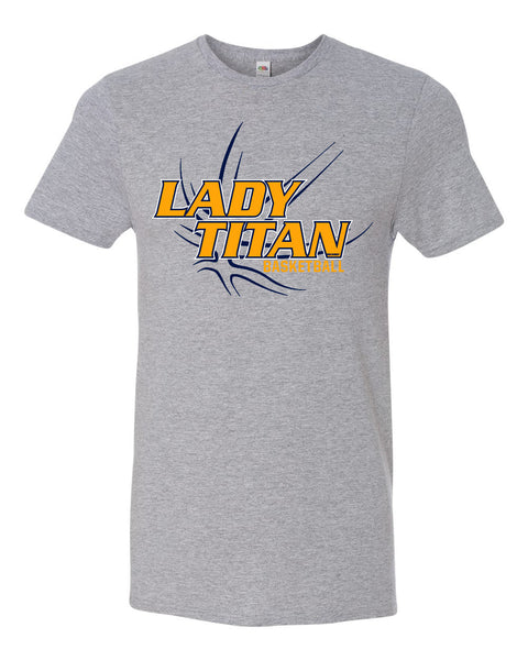 Lady Titans Basketball D2 T-Shirt - Athletic Heather